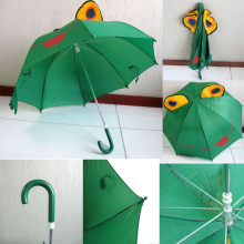 8 ribs auto open 3D animal shape frog children umbrella