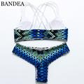 2016 Women Suimsuit High Neck Halter Bikinis Padded Bikini Push Up Bra Reversible Top Bottom Brailian