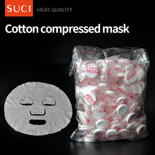 Natural Cotton Skin Care Cosmetic Whitening DIY Compressed Sheet Facial Mask for Face