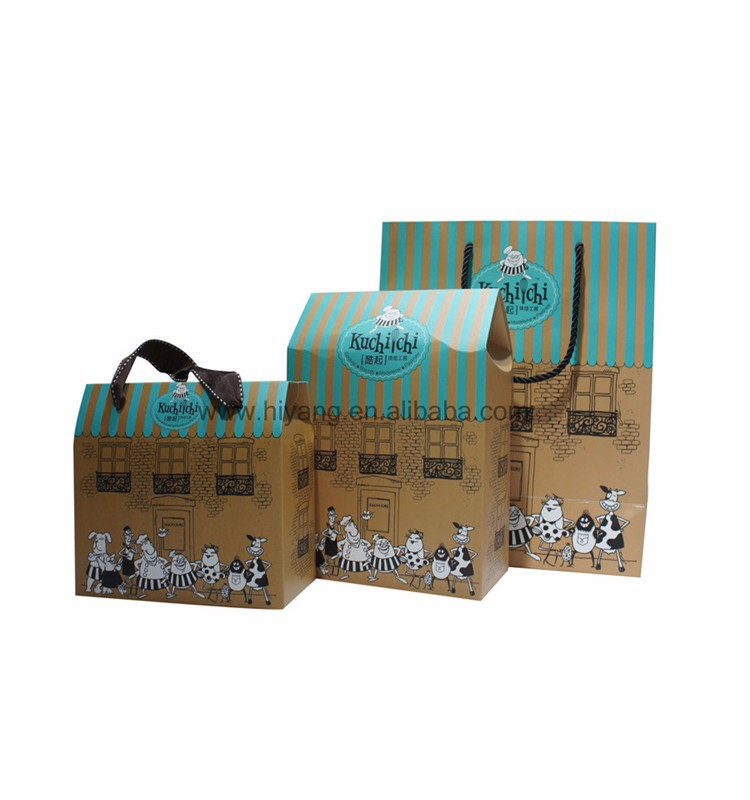 2017 hot sale paper shopping bag for gift packaging