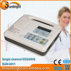 Electronic Digital Portable Handheld Hospital Used 1 Channel ECG for Heart Rate Testing