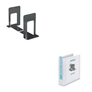 KITAVE19701UNV54095 - Value Kit - Avery Economy Showcase View Binder with Round Rings (AVE19701) and Universal Economy Bookends (UNV54095)