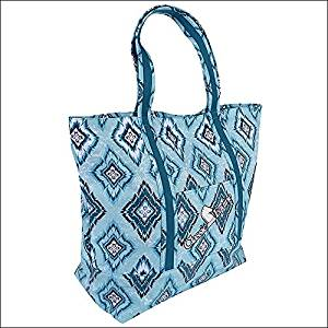 a8f03c277d Get Quotations · CLASSIC EQUINE HORSE SPORTS GROOMING RODEO TRIP LARGE TOTE  BAG TEAL DIAMONDS
