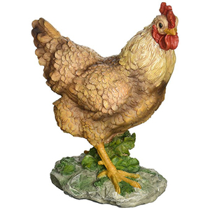 Customized Made Resin Decorative Easter Hen Statue Chicken garden sculptures
