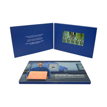 Customized Design 5 inch IPS TFT video Greeting Card For Business and Wedding Invitation