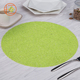 Free Samples Customized Eco-Friendly Green Heat Resistant Woven Placemat Pvc Dish Mats