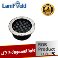 Round Type 24W LED RGB Underground Light With Internal Color Changing Modes