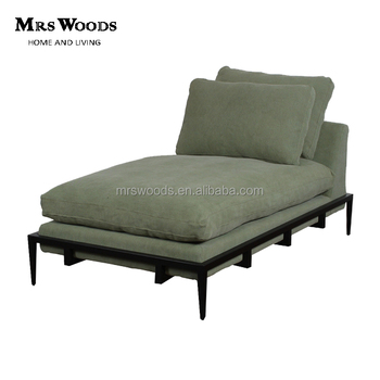 iron green fabric indoor metal daybed