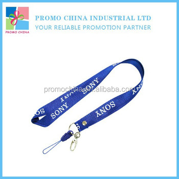 Wholesale China Cheap Polyester Woven Lanyard For Promotion