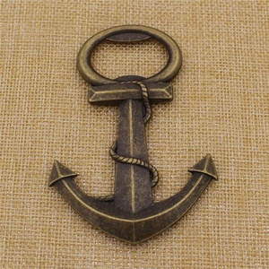 Customized vintage cheap antique metal anchor bottle opener with best price