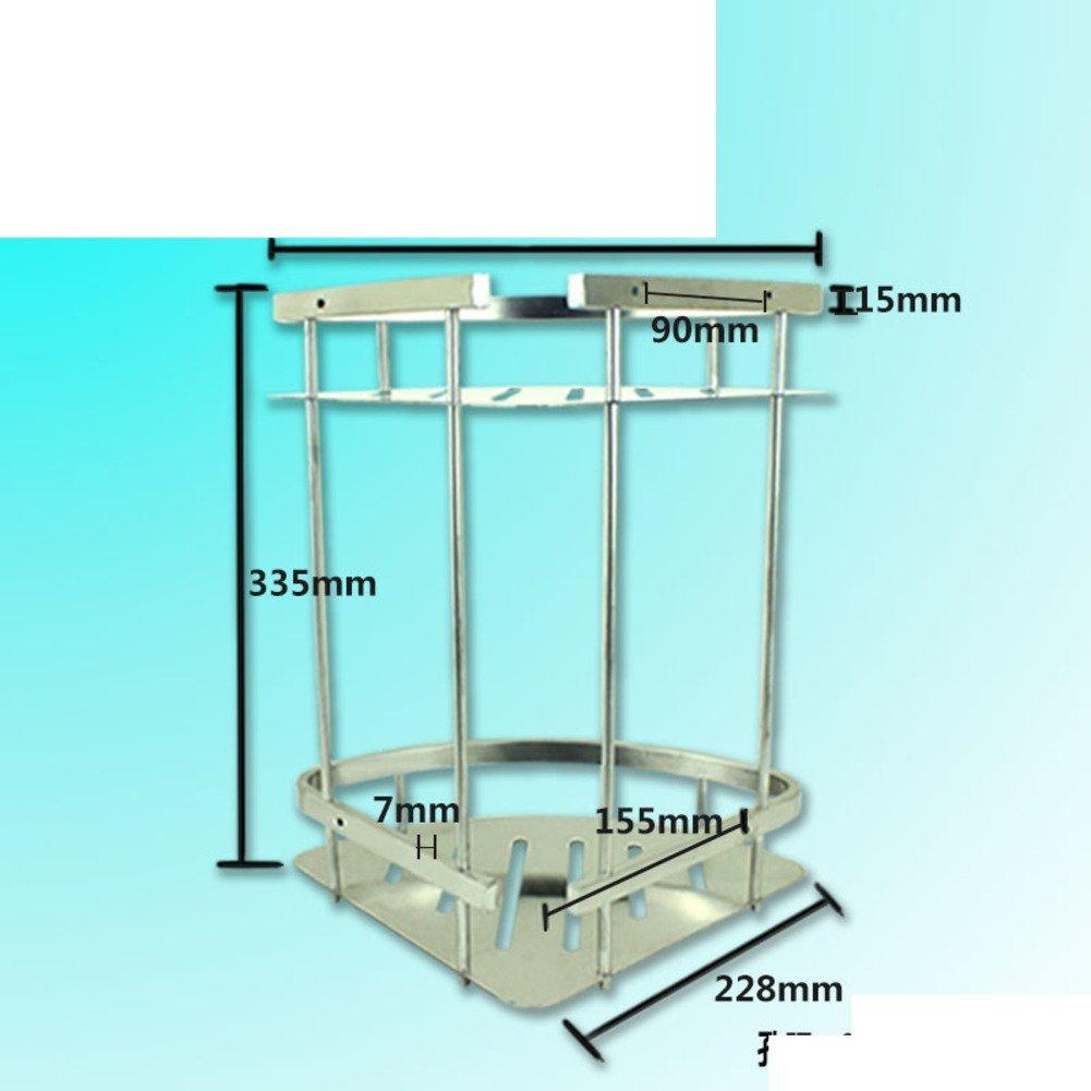 Stainless steel triangular basket/Double-pod/Racks/Bathroom corner rack/Bathroom corner brackets/Racks-E