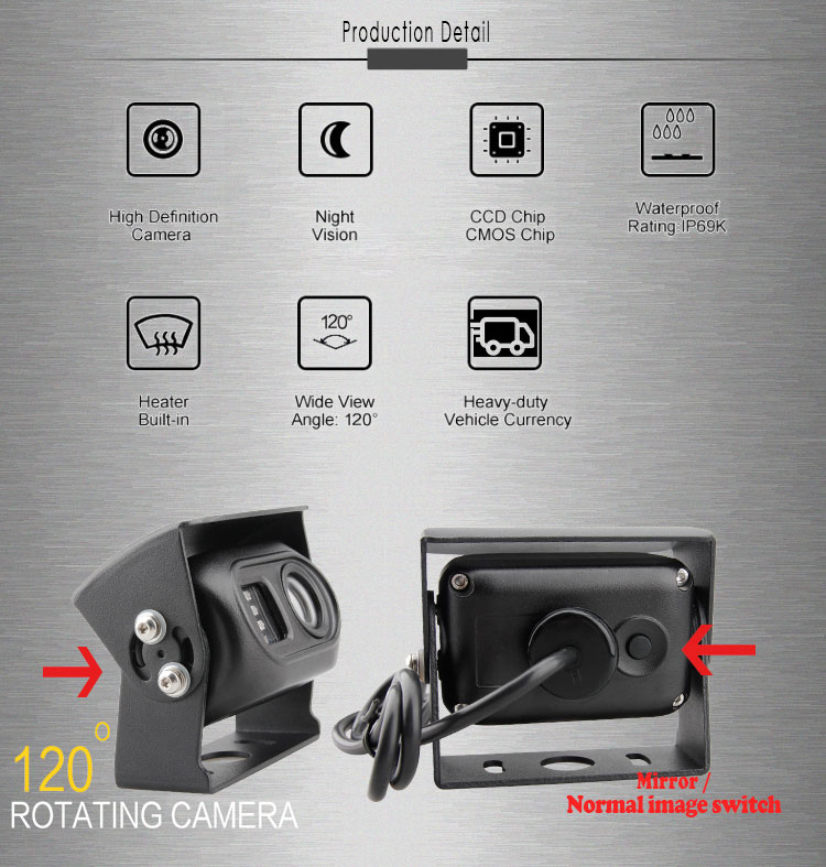 New Design IR LED lens Separate CCTV IR CUT Car Camera Waterproof IP69K
