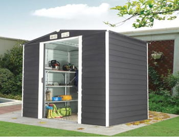 HW 1109 WOOD HORIZONTAL PANEL Apex Steel Storage Shed