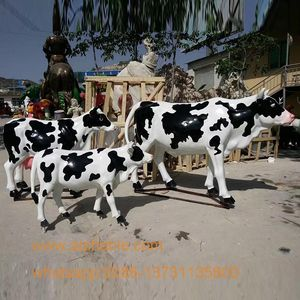 Garden Decoration Life Size Resin Animals Fiberglass Cow Statue For Sale
