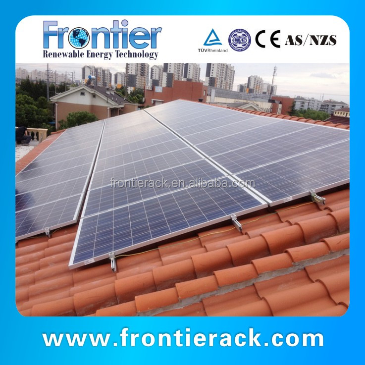 roof solar mounting kit AS/NZS1170 certificate