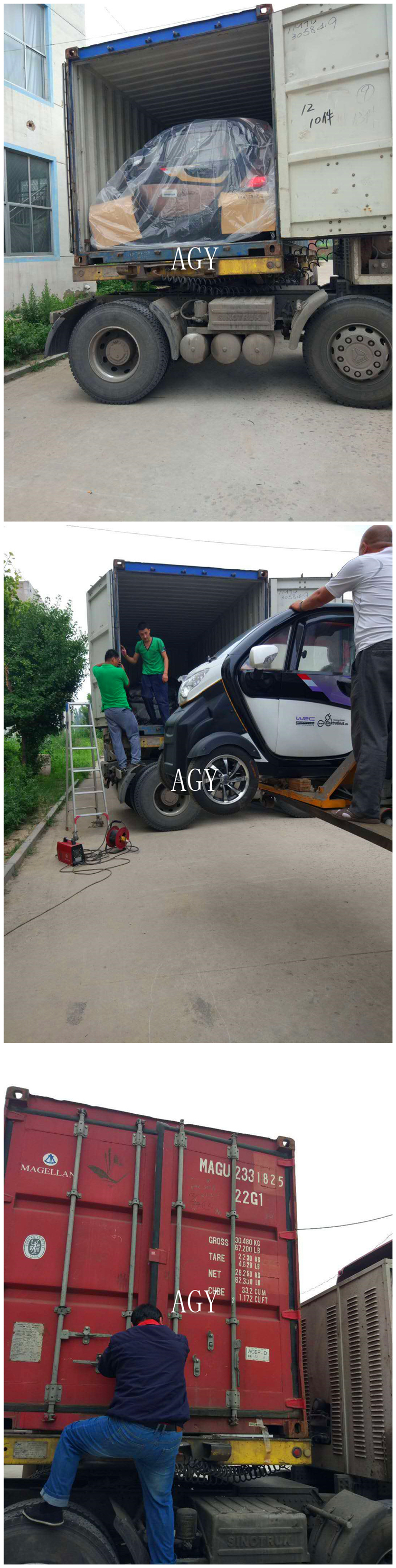 AGY green power three seater 72v electric car for teenagers