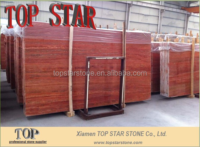 Dark Pink Red Travertine from TOPSTAR STONE
