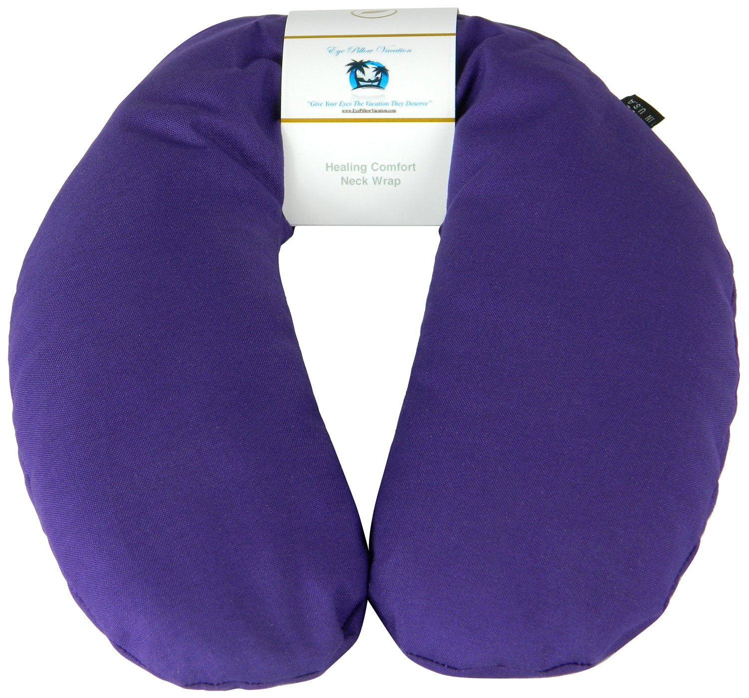 Neck Pain Relief Pillow - Hot & Cold Therapeutic Herbal Pillow For Shoulder and Neck Pain, Stress & Migraine Relief (Royal Purple - Organic Cotton)