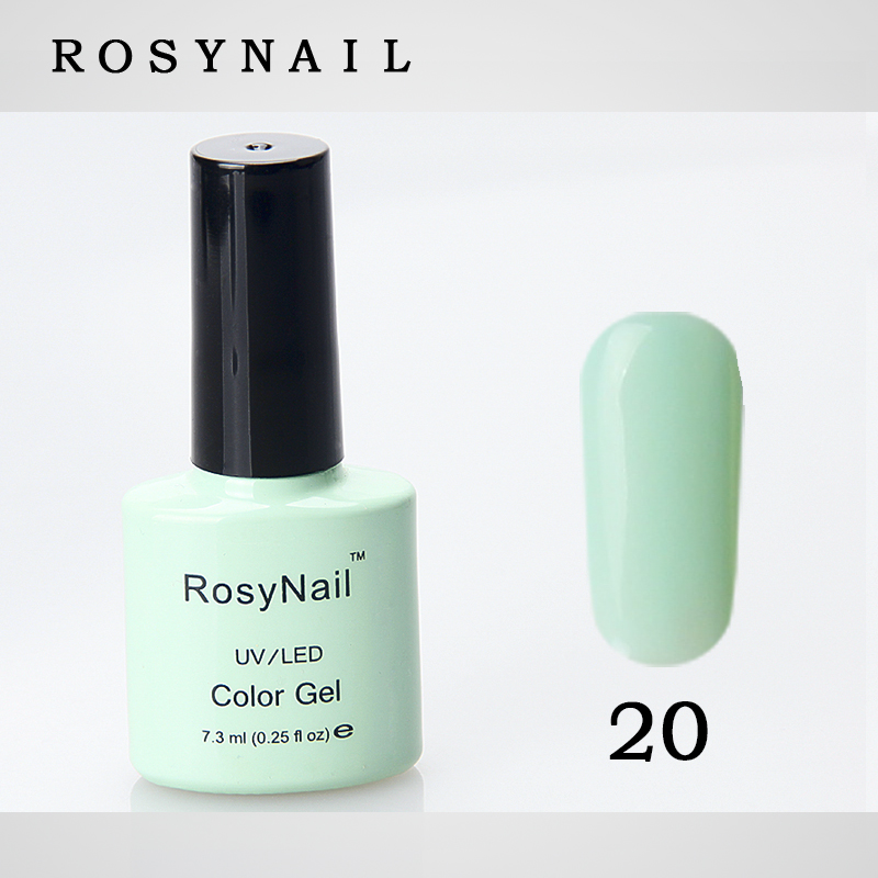 Unique ROSY no need remover peel off french gel nails