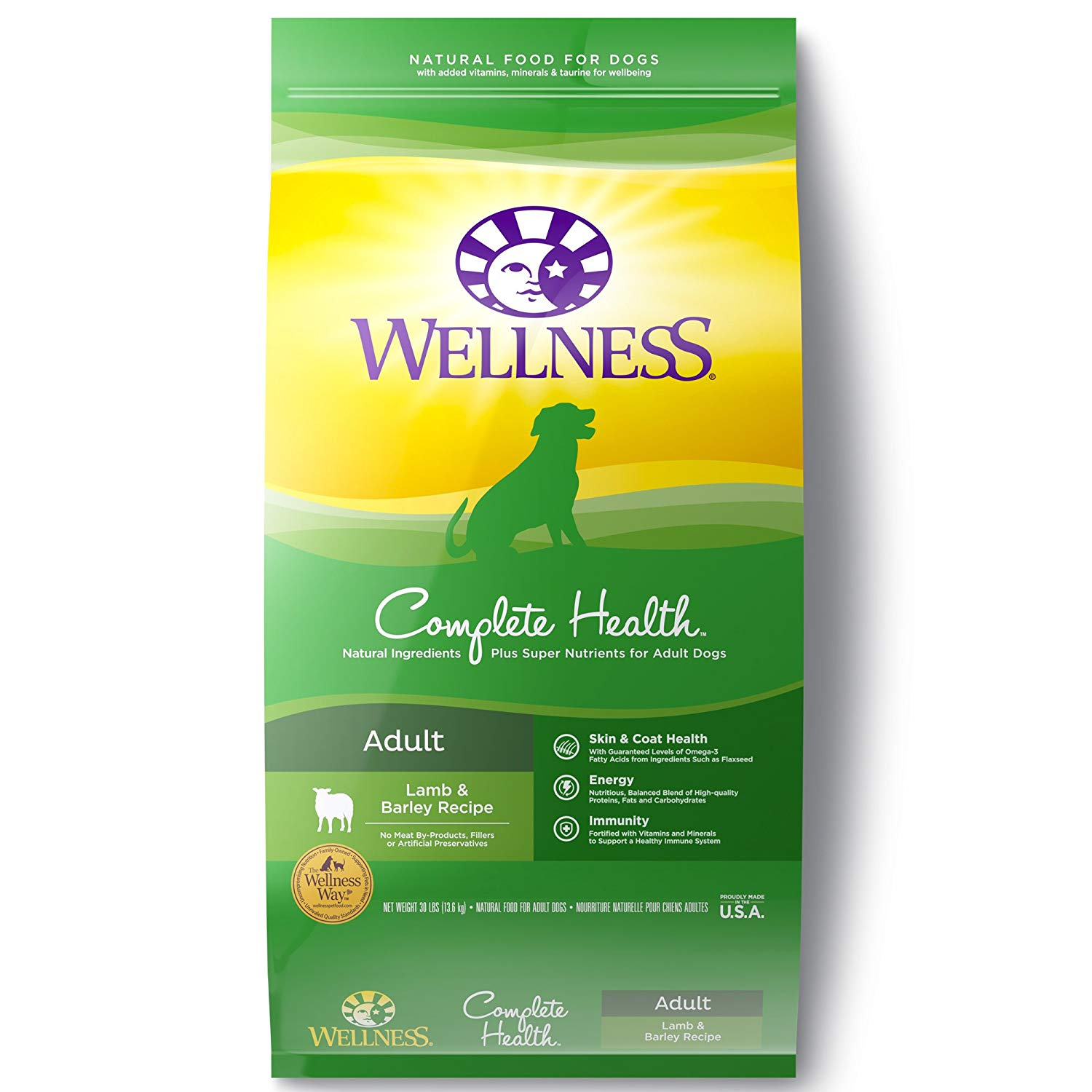 Wellness Complete Health Natural Dry Dog Food, Lamb & Barley