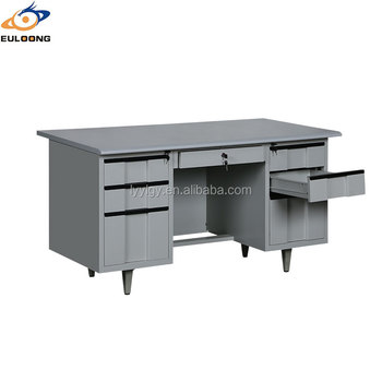 One Drawer Simple Design Stainless Steel Office Desk Home Used