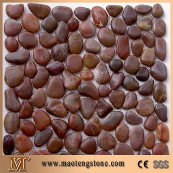 Colored Garden Landscaping Design Red River Pebble Stone Flooring
