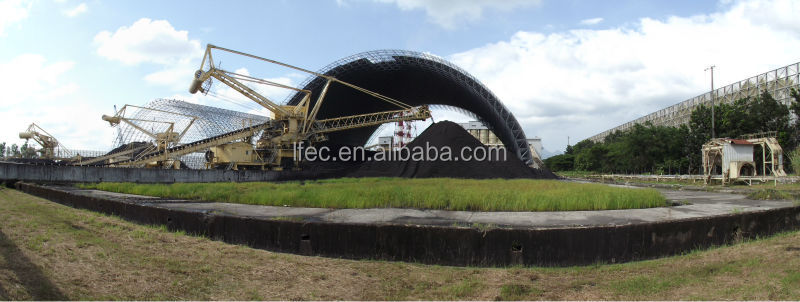 Galvanized iron structure arch coal storage