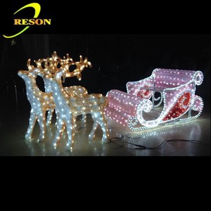 Christmas decoration led lighting outdoor christmas reindeer sleigh