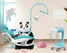 Nette komfortable kinder dental stuhl die panda einheit mit luxus konfiguration DC29