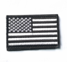 Custom Negli Stati Uniti di <span class=keywords><strong>America</strong></span> Bandiera Del Ricamo Patch HOOk & LOOP Patch Spallina