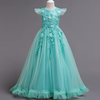 YY10201G Fancy little girls lace dresses flower girls dresses puffy party long ball gown for kids