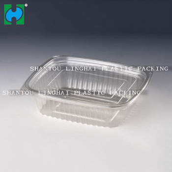 PET clear plastic round salad packaging box salad container to keep fresh