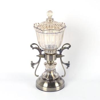 Antique Tall Decorative Candy Jar Gl