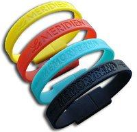 OEM Customize Waterproof Silicone USB Wristband Wholesale BJE-U001