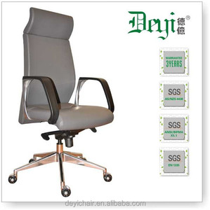 synchronized leather office chair 661-B swivel high back manager chair