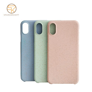 OEM wholesale mobile accessories shockproof degradable material smart cell phone case for iphone X
