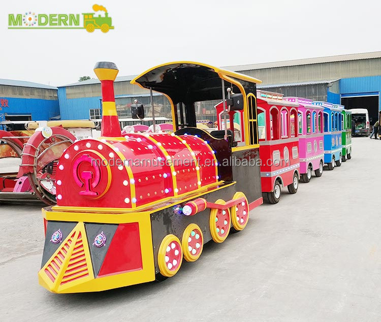 Theme park trackless tourist electric train kiddie ride
