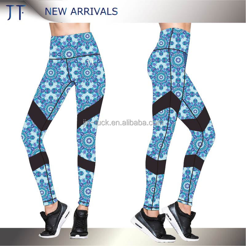 High Quality Custom Dry Fit Sports Fitness Leggings Hot Girls Yoga Pants With High Waist
