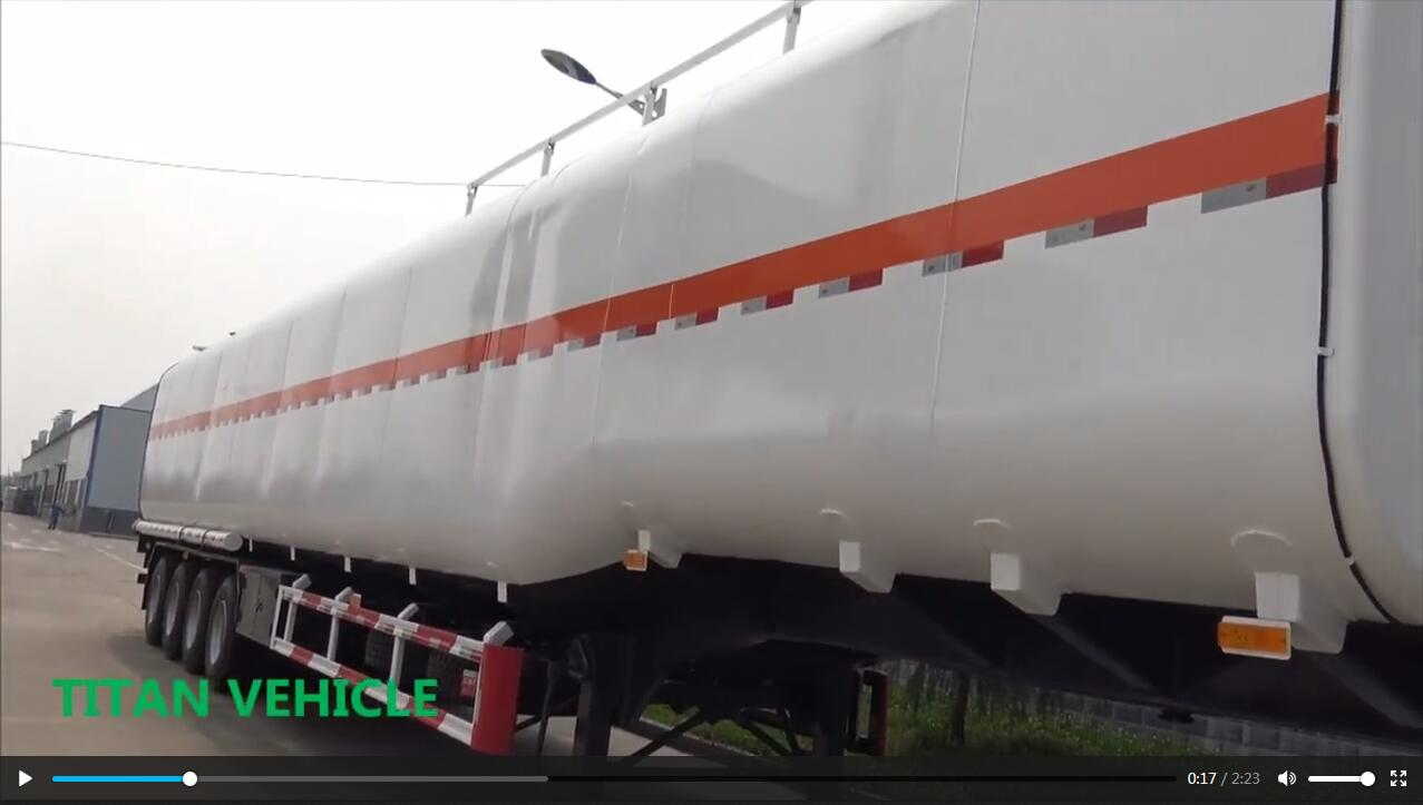 carbon steel liquid diesel oil storage tanks transport drawbar fuel tanker truck 50000 liters fuel tank semi trailer