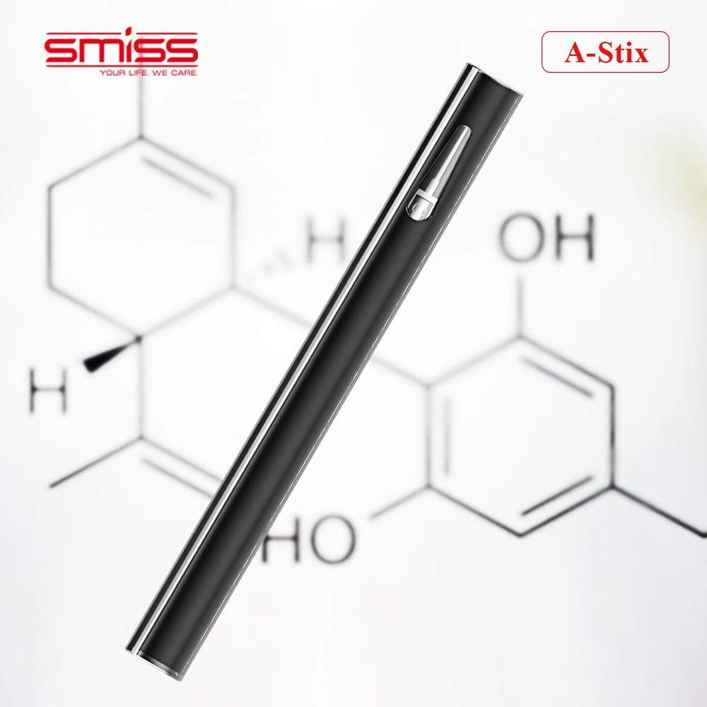 Smiss A-Stix disposable vape pen glass cartridge cbd crystal vaporizer with 280mah battery