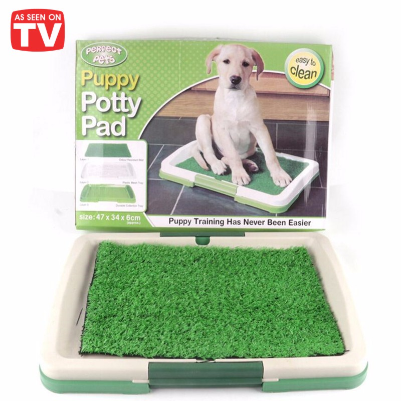 Indoor Dog Toilet Mat Training Seat Tray Toys Play Fake Grass Pet Puppy Potty Pad