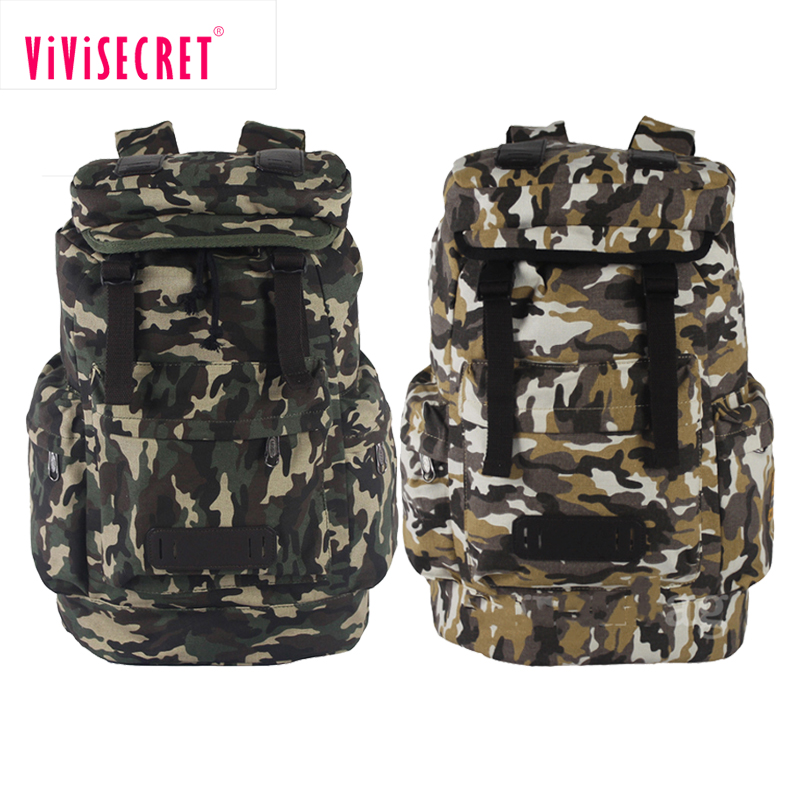 Custom swiss army backpack canvas mountain backpack camouflage drawstring backpack