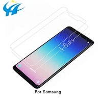 2019 trending products premium glass full cover tempered glass for for samsung a6 2019 protect screen from drop and scratch