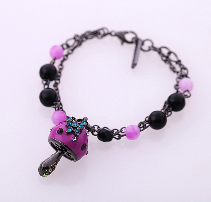 Mushroom Fashion Wholesales Peace <strong>Accessories</strong> Red Jewelry Bracelet