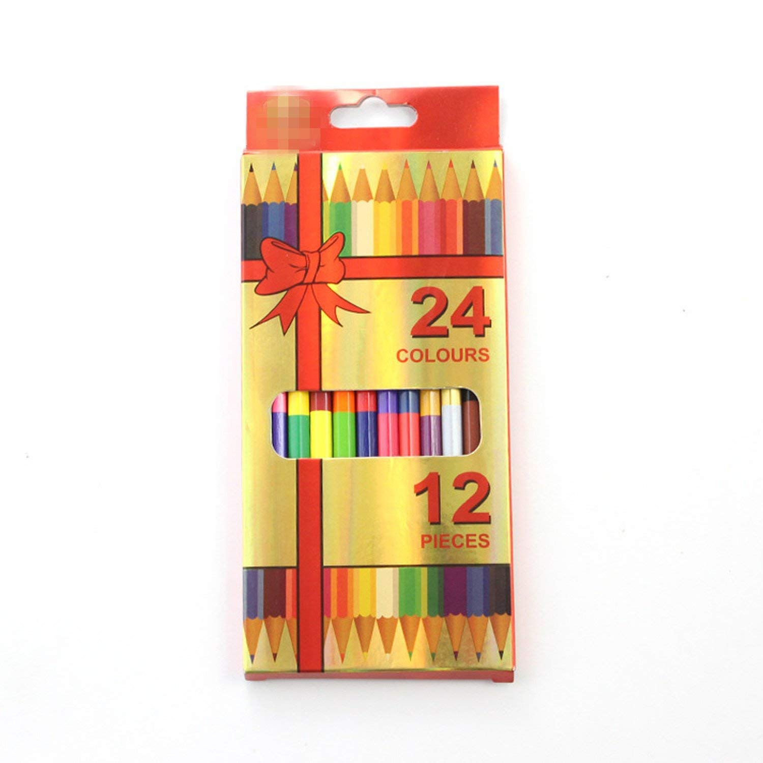 12Pcs Double-headed Colored Pencil (24 Colors) Art Set Colour Pencil Kid Drawing Tools School Office Supplies Papelaria