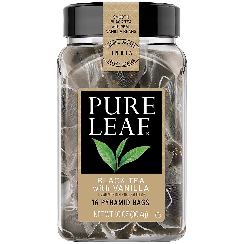 Pure Leaf Hot Tea Bags, Black Tea with Vanilla 16 ct