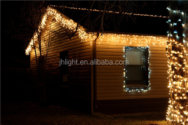 300 Icicle Lights Outdoor Led Low Voltage Lighting Fiber Optic ...