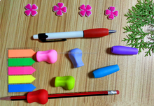 Wholesale Colorful Soft Silicone Pencil Grips