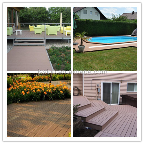 Waterproof Wpc Outdoor Deck Floor Covering Wood Plastic Patio Floors Plank Flooring