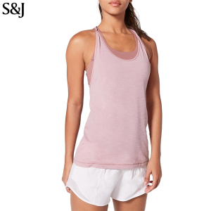 58ce318aa0734 Custom Women Gym Workout Singlet Fitness Criss-Cross Tank Top